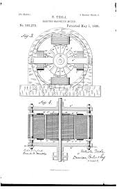 nikola tesla alternating current. patent drawing nikola tesla alternating current