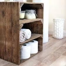 wooden crate shelves bathroom wooden crate shelves diy