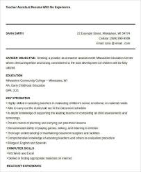 28 Teacher Assistant Resume With No Experience