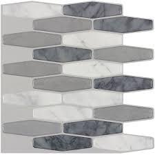 Peel And Stick Kitchen Tile Shop Peelstick Mosaics Marmol Elongated Mosaic Composite Wall
