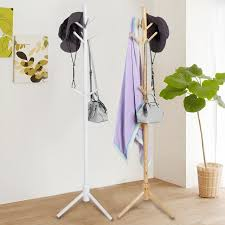 Coat And Hat Rack Stand Wooden 100 Hooks Tree Style Coat Hat Rack Bag Clothes Garment Hanger 57