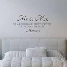 Bible Love Quotes Adorable Mr Mrs Love Quotes Bible Verse Wall Sticker Vinyl Self Adhesive