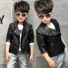 baby boys leather jacket kids girls and coats spring kids leather jackets boys casual black solid children outerwear 2016 new jacket for boys on padded