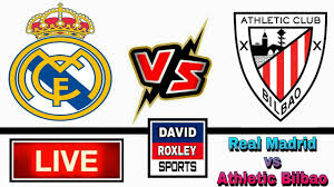 Real Madrid vs Athletic Bilbao Live Football Match, RM vs ATH Live, super  cup live - YouTube