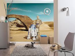 wall art stickers childrens rooms inspirational wall mural star wars lost droids