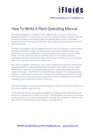Emergency Shutdown System Design Philosophy How To Write A Plant Operating Manual