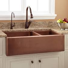 36 tegan 70 30 offset double bowl copper farmhouse sink