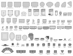 Floor Plan Symbols Chart Furniture Vector Stencils Library Design Elements