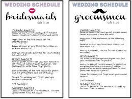 Wedding Schedule Template Unique Birthday Itinerary Template Costumepartyrun Wedding Itinerary For