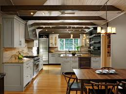 kitchen ceiling with beams exposed beams