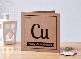 personalised 7 year anniversary card 7th anniversary card