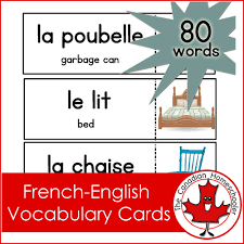vocab cards with pictures french vocabulary cards matching game the canadian homeschooler