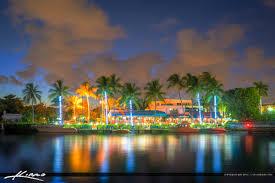 delray beach tree lighting. Delray Beach Waterway Night Life Restaurant Tree Lighting