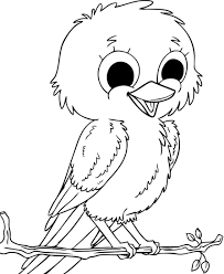 Coloring Baby Sparrow Birds Coloring Pages