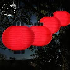 Outdoor Solar Lanterns Chinese Garden Yard Patio red patio lanterns