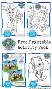 Paw Patrol Colouring Pages And Activity Sheets In The Playroom