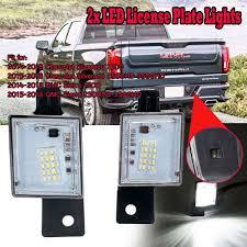 2018 Silverado License Plate Light Bulb 2pcs Led Number License Plate Tag Light Bulbs Rear Lamp Lens