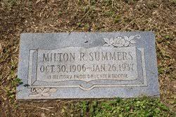 Milton R. Summers (1906-1937) - Find A Grave Memorial