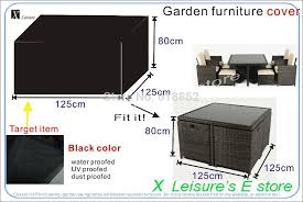 rattan outdoor furniture covers. garden rattan furniture set cover125x125x80 cm coverwaterproofed cover for outdoor covers