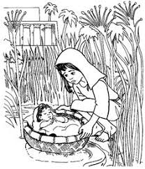 Small Picture Bible coloring page Baby Moses preschool Kid Printables