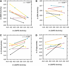 interactions of nadp reducing enzymes across varying environmental figure