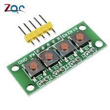1x4 4 Tuşları Düğmesi 5 Pin Tuş Klavye Modülü Mcu Kurulu Arduino için  Öğrenci Sınıf Tasarım Mezuniyet Projesi deney Instrument Parts &  Accessories