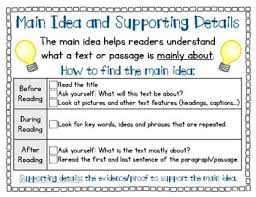 Main Idea Fact And Details Sequence Cause And Effect