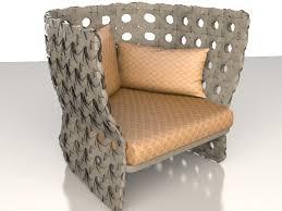 modern rattan furniture. upholstered rattan chair 3d model modern furniture e