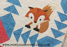 Quilt | row house creations & Fox in a Box Baby Toddler Quilt Fox and Geese Quilt Block Adamdwight.com