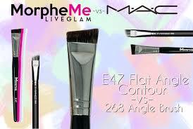 morphe e47 flat angle contour vs mac 268 angle brush