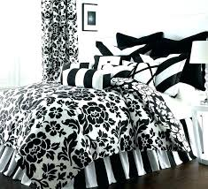 black and white comforter set california king damask twin sets home improvemen