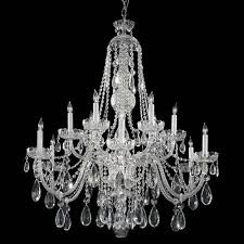 crystorama lighting group traditional crystal chrome twelve light clear spectra crystal chandelier