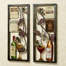 vineyard wine bottle kitchen wall art
