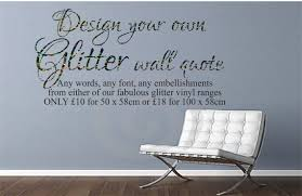 Small Picture Design Your Own Glitter Wall Decal Create Your Own Wall Decal