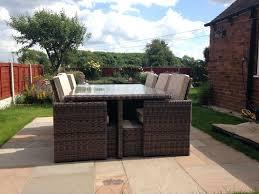 11 piece patio dining set piece rattan cube outdoor patio dining set oasis outdoor patio furniture 11 piece
