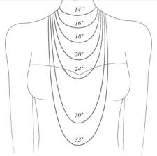 Necklace Chain Length Chart A V Max Accessories