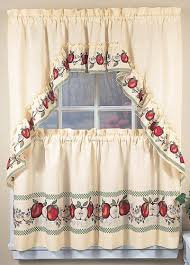 Apple Curtains For Kitchen