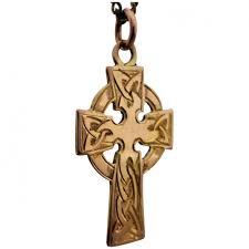 vintage 14ct gold engraved celtic cross pendant