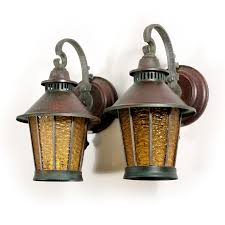 superb exterior house lights 4. Wonderful Pair Of Antique Copper Wall-mount Lanterns With Original Amber Glass, Dating From The 1920\u0027s. These Exterior Sconces Feature A Round Superb House Lights 4 D