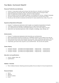 Personal Profile Examples For Resumes Personal Profile Resume Images Profiles Examples For Resumes 21