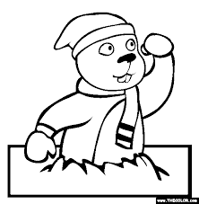 Small Picture Groundhog Day Coloring Page Free Groundhog Day
