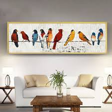 birds on wire canvas poster long banner minimalist  on birds on wire canvas wall art with birds on wire canvas poster long banner minimalist wall art prints