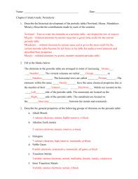 Chapter 6 Periodic Table Test Answer Key | Periodic & Diagrams Science
