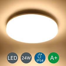 24w led flush ceiling lights warm white