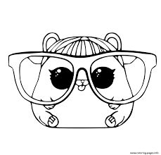 Lol Pet Coloring Page Cherry Hamster Pages Printable Book 39519