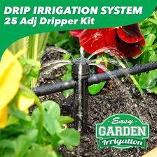 garden irrigation system. Drip Irrigation Systems - System 25 Adjustable Dripper Garden