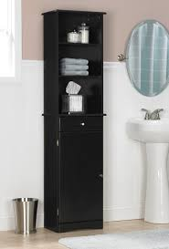 Narrow Linen Cabinet Tall Bathroom Storage Cabinets With Doors Best Home Furniture