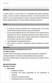 Hr Resume Templates Free Ultimate Guide To Writing Your Human Resources Resume Cv 95