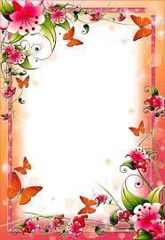 Flower Border Designs For Paper Pink Floral Flower Border Spring Flower Frames For Photoshop