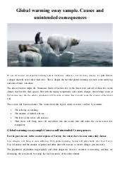 global warming essay